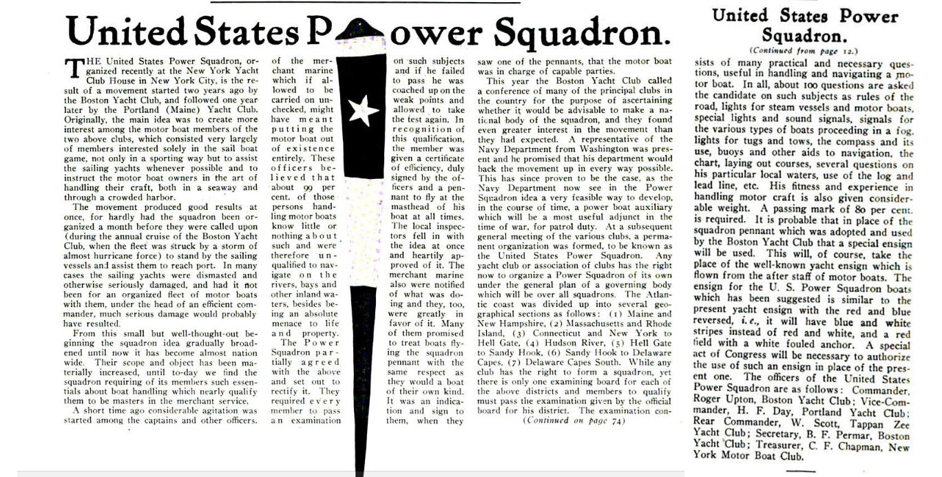 United States Power Squadron 1914